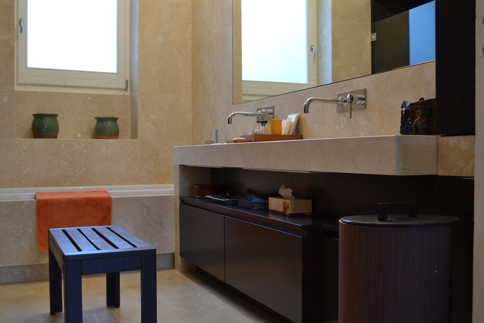 Mobili bagno in legno rovere tinto weng napoli - Mobili bagno napoli ...