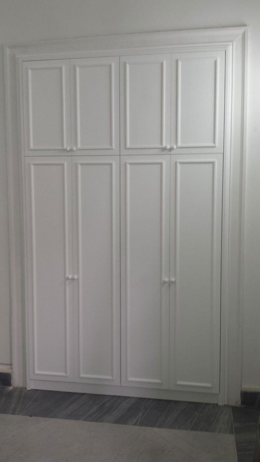 Armadio A Muro Laccato Bianco.Armadio A Muro Con Ante Laccate Bianco Arecodesign Napoli